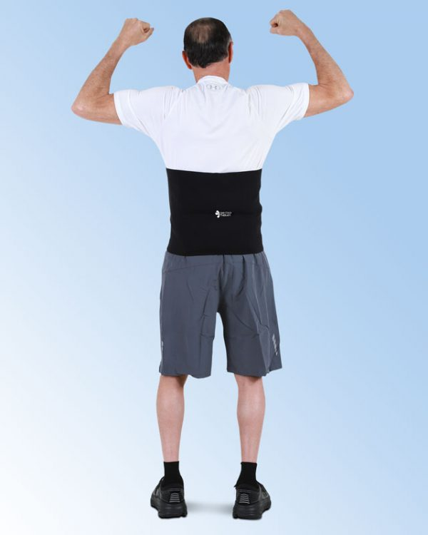 Patient Wearing the SMI Lumbar Support Wrap